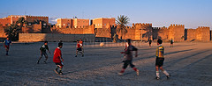 Men playing football outside the ramparts of Taroudant, Morocco (Cyrille Gibot) Tags: city people playing game color colour men horizontal architecture outside town football northafrica outdoor soccer bluesky panoramic morocco ramparts maghreb format walls fortification fortifications amateur moroccan walled taroudant rampart fortified northernafrica worldlocations