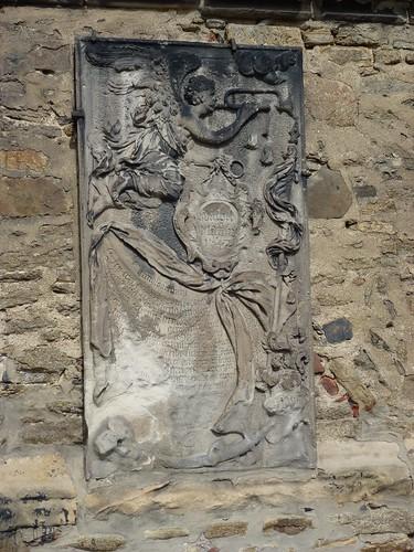 Epitafium wmurowane w południową ścianę kościoła śś. Piotra i Pawła w Strzegomiu