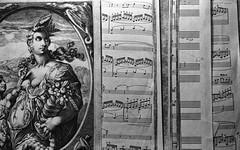 Dutch copperplate engraving and sheet music (.grux.) Tags: film indoors engraving kodaktrix pushed sheetmusic rodinal pentaxmx selfdeveloped 4001600 semistanddevelopment smc55mmf18