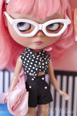 Hey Girl! (Cherryta) Tags: pink sky lady vintage hair glasses factory heather oh 50s hybrid takara melina