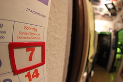 97/365 calendar (olivgrau) Tags: sunday number day97 day97365 3652013 365the2013edition 07apr13