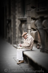 The old writer (LindbloomPhoto) Tags: street italy florence oldman writer