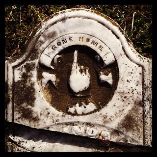 Headstones at cemetery. Old Union Primitive Baptist Church. Hot Springs Village, Arkansas.