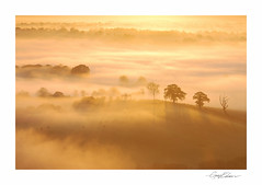 Pewsey Vale Sunrise (George-Edwards) Tags: morning autumn sunlight mist fog sunrise landscape dawn golden countryside scenic valley fields wiltshire daybreak haybales wessex pewseyvale clench valeofpewsey woottonrivers