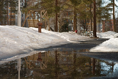Reflections 1 (Matti Vinni) Tags: trees snow reflection water landscape pond heijastus lammikko ltkk