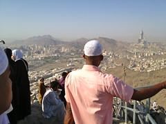 hiking up jabal nur (Mink) Tags: light people mountain hike journey saudi arabia makkah pilgrims jabal nur 2013