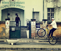 street photo (Zoltn Wiesner) Tags: street boy bicycle sport canon 50mm keszthely 550d