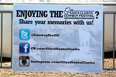 Enjoying the Memories (Atwater Village Newbie) Tags: santa city festival poster logo cowboy cta weekend april fest logos facebook clarita twitter 2013 dsc0149 instagram