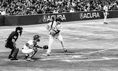 Kevin Youkilis at the Plate (Paul Katcher) Tags: blackandwhite canada sports baseball newyorkyankees mlb torontobluejays rogerscentre kevinyoukilis