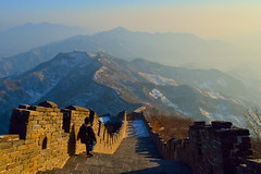 Great Wall of China (Kamal Zharif) Tags: china lighting travel sunset sky orange mountain lake mountains reflection tourism nature water beauty weather silhouette stone architecture garden spectacular landscape japanese volcano pagoda construction ancient glow view cone landscaping vibrant background traditional towers sightseeing scenic dramatic vivid landmark lookout formation crater mirrored historical environment barrier wilderness lush fortification distance defensive volcanic protection atmospheric celestial battlements tranquillity greatwallofchina geological topography manicured chineseempire