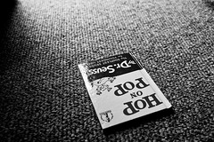 "Day: Seventy Four ""Dod No Doh"" (espressoDOM) Tags: life bw stilllife carpet book blackwhite seuss read 365 blacknwhite drseuss hoponpop espressodom iloveblackwhite 365daysofphotos 3652013 dodnodoh"