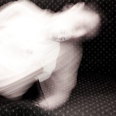 one dream makes you larger (Vasilis Amir) Tags: longexposure boy portrait motion blur male monochrome square sleep ghost dream surreal transparency transparent twofaces  abstractportrait vasilisamir