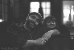 Jerry & Cyndi (BryanBowman) Tags: portrait white black film 35mm photography