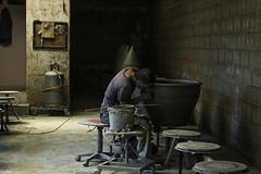 The potter (Siminis) Tags: ceramics handmade patterns labor potter textures greece creation crete pottery create heraklio thrapsano siminis