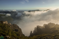 Great Gable Gully Cloud Inversion (James G Photography) Tags: greatgable gully wastwater wasdale inversion clouds fog sunset lakes lakedistrict cumbria