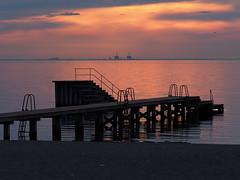 Copenhagen 2016 (hunbille) Tags: denmark amager amagerstrandpark strand strandpark beach kastrup sunrise dawn summer bath oresund resund water sea kbenhavn copenhagen barsebck barseback