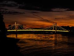 DSCF3687 (Cproland1986) Tags: london uk thames battersea bridge sunset clouds