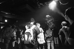 Crowd (Yuta Ohashi LTX) Tags: club concert ookubo rock metal gig      nikon  d750 24120 f4   black white monochrome bw smoke music tokyo japan  crowd  audience