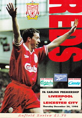 Liverpool vs Leicester City - 1996 - Cover Page (The Sky Strikers) Tags: liverpool leicester city fa carling premiership anfield review official programme one pound seventy