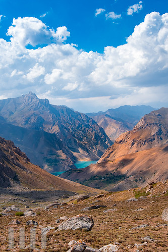 Nofin and Gushor Lakes, Fann Mountains, Tajikistan.