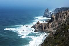 Cabo da Roca (elinay76) Tags: cabodaroca caperoca sintracascaisnaturalpark naturalpark atlanticocean portugal shoreline cliff rock cape landscape shore waves ocean