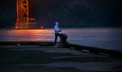 Night catch (gcquinn) Tags: geoff geoffrey quinn 1gq5498 fishing golden gate sanfrancisco bridge crissyfield california