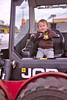 Skidsteer driving toddler