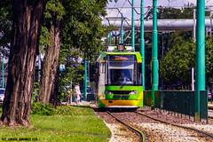 Tatra/Modertrans RT6MF06AC #403 (ukasz Janowicz) Tags: tatramodertrans rt6mf06ac 403 pozna mpkpozna tram tramwaj grunwaldzka linia1 linka1 linie1