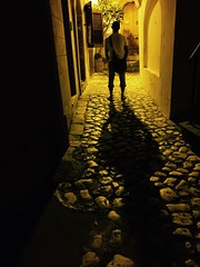 Framed (Rebecca Ceccaroni) Tags: evening apulia otranto nightphotography sepia shadow