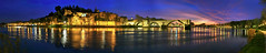 Avignon Dusk Panorama (hapulcu) Tags: bluehour avignon france francia frankreich mediterranean provence rhone dusk panorama river winter