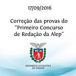 Corre��o das provas do 1� Concurso de Reda��o da Alep 17/09/2016