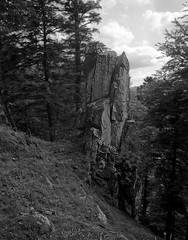 rocher - Spitzkpfe - Vosges (JJ_REY) Tags: rocher boulder vosges montagnes mountains bw film shanghai100 4x5 largeformat toyofield 45a fujinonswd 90mmf56 alsace france spitzkpfe