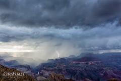 Grand-Canyon-Lightning-Strike (Chris Frailey) Tags: grandcanyon lightning lightningstrike monsoon storm stormchasing weather rain clouds thunderstorm canon 5dm3 canon1740l canon5dmark3