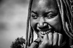 Himba Frau (gaengler) Tags: himba girl women frau traditional hat portrait sw blackwhite schwarzweiss monochrome
