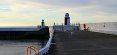 Morning Lights (RobJH82) Tags: lighthouse laxey harbour bay light morning