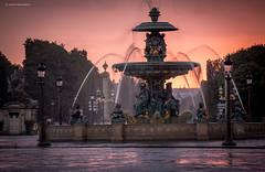 Paris (Julianoz Photographies) Tags: europe france paris capitale 75 fontainesdesmers placedelaconcorde sunset rain raining pluie julianozphotographies architecture monument reflection