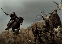 GAME NERDOM #2 (A K A M i ) Tags: screenshot hunting deer elk bethesda horseback computergames skyrim whiterun consolecommands
