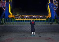 North Korean People Having Fun At Kaeson Youth Park, Pyongyang, North Korea (Eric Lafforgue) Tags: people color colour horizontal night asian fun outdoors photography togetherness war asia joy happiness korea illuminated amusementpark asie nightlife rearview cheerful excitement coree funfair pioneer vacations enjoyment attraction northkorea onepeople lifestyles pyongyang amusementparkride dprk exhilaration coreadelnorte casualclothing capitalcities colorimage leisureactivity northkorean nordkorea fulllenght img0514 democraticpeoplesrepublicofkorea  artscultureandentertainment 89years   coreadelnord  unrecognizableperson  insidenorthkorea  rpdc  coreiadonorte  largegoupofpeople
