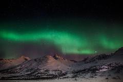 Mountain Aurora (RichardHurstPhotography) Tags: snow mountains green norway aurora sommary thenorthernlights