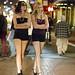 Leggy Mardi Gras girls