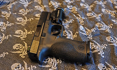 M&P9 1 (Eric Holmes) Tags: light liberty gun zombie apex weapon pistol sw guns defense nra 9mm firearm firearms polymer ccw tactical shemagh streamlight mp9 smithandwesson tlr1 tlr1s mp9fs dcaek