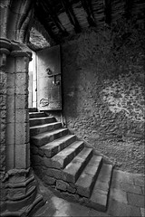 dark as a dungeon (ati sun) Tags: door stairs morocco vault safi cellar marokko blackwhitephotos