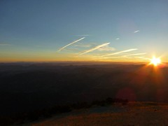 The landscape being lit. You can see for hundreds of miles from up here (Goldfishrok) Tags: montventoux