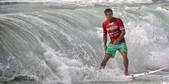 Glider (pominoz) Tags: sea man newcastle surfer wave surfing nsw merewetherbeach surfest burtontoyotapro