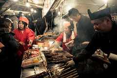 Kobe Night Markets - Japan (Kotchenography) Tags: street food japan night japanese market stall kobe streetfood skewers