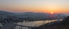 Sunrise over Charleston, WV (tarabunnyears) Tags: city west sunrise virginia over charleston wv