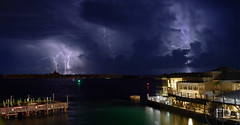 Key West Storms (Fabdub) Tags: longexposure travel panorama usa storm beach colors night clouds keys pentax florida hurricane ciel thunderstorm thestrip lightning keywest storms nuit plage orage floride supercell étatsunis 31mm flashesoflightning pentaxart pentaxkr 31mm18limited
