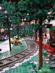 Track in the Trees (Saskatchewan Lego Users Group) Tags: city canada train layout lego space vehicles saskatoon slug lug caslte 2013