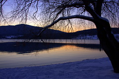 Last light (Tegernsee, Bayern) (armxesde (off - too much work)) Tags: winter sunset mountain lake snow reflection tree water germany bayern deutschland bavaria see twilight pentax tegernsee k5 mygearandme mygearandmepremium mygearandmebronze mygearandmesilver mygearandmegold mygearandmeplatinum mygearandmediamond