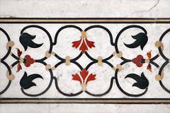 Décor en marqueterie de pierres dures du Taj Mahal (Agra)